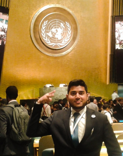 File:UN HQ, Outstanding Youth Delegate Medalist 2017.jpg
